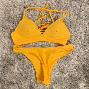 Shein bathing suit yellow size small